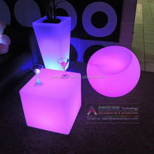 50cm cube shaped led bar chair outdoor use available