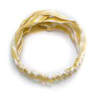 Custom printed elastic hair band accessories fashion elastic Stripe printed headband women Head Scarf