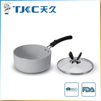 Marble Ceramic Sauce Pan with Glass Lid