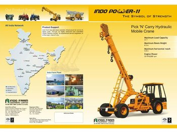 Indo Power Hydraulic Pick and Carry Mobile Crane India