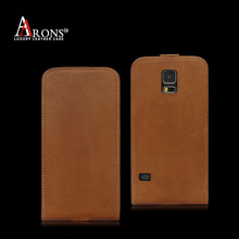 Genuine leather protective flip cover phone case for Galaxy s5