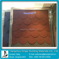 SGB asphalt roofing shingles fish scale standard tiles