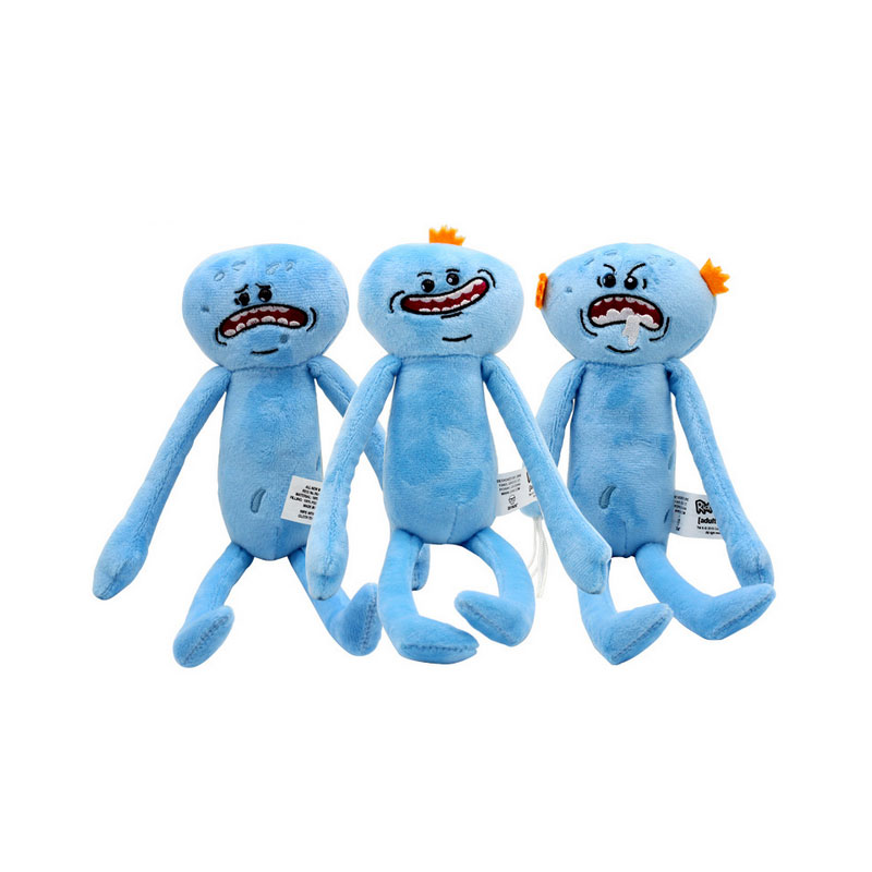 Custom Doll Happy Sad Angry Meeseeks Stuffed Plush Toys Dolls For Children