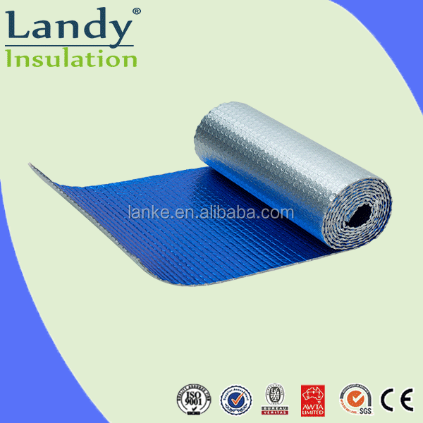 Waterproof Resistant Aluminum Foil Roofing Underlayment Menbrane Air Bubble Insulation Thermal Concrete Underlay