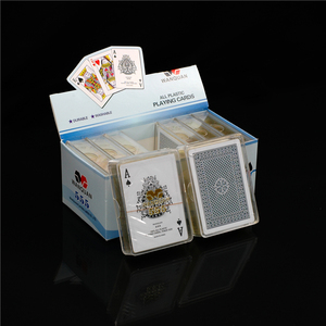 wholesale Casino Gold Plated Card Plastic Play Card Pvc Poker Playing Cards