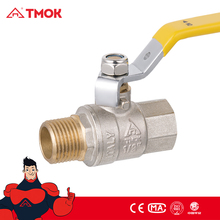 Two Way Brass Ball Valve Water Gas Oil Media From TMOK Brass Ball valve Factory