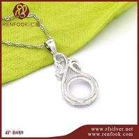 RenFook factory direct sale 925 sterling silver Handcraft animal pattern pendant mounting