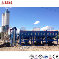 Ready Mixed universal hzs90 concrete batching plant , 90m3 concrete mixing plant
