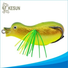 Soft BASF material 70mm big eyes baby duck soft bird lures frog bait