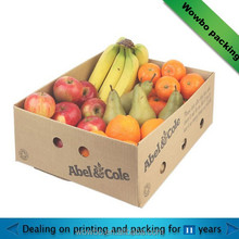 corrugated paper brown fruit tray box/ hot sale corrugated cardboard fruit box