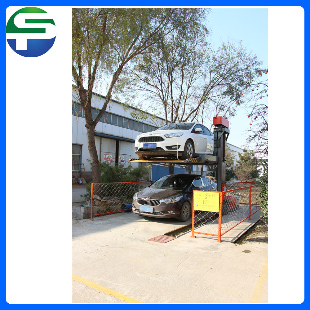 Two layer no avoidance hydraulic car parking system