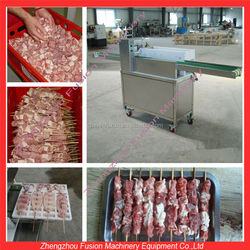 BEST CHOICE beef kebab string machine/meat skewer wearing machine/mutton wear string machine