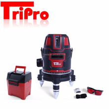 Tripro Measurement Diagnostic 5 Lines Red Laser Level 360 Degree Self-leveling Outdoor Laser Line Tool Laser Level with Tripod