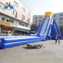 China Lily toys Customized size 0.55mm Plato PVC warranty 3-5years high Giant Inflatable Water Slide For Adult