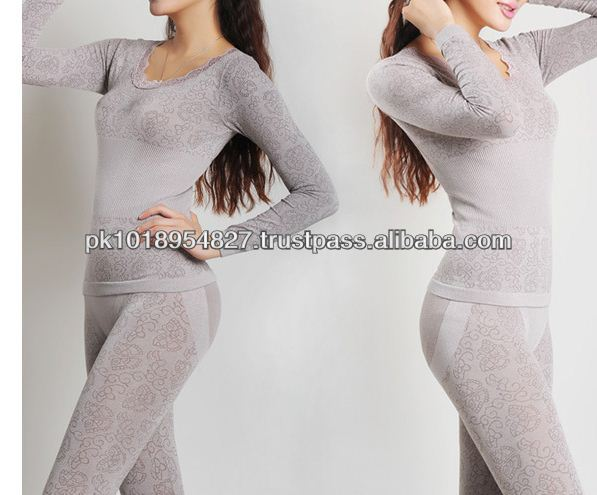 Coverall for women in beautifull Silver color long underwear and Velvet designs