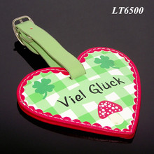High Quality Lovely Souvenir Gifts Suitcase Tags Personalized Luxury New Designed Heart Shaped Leather Luggage Tag