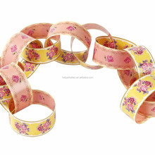 Truly Scrumptious Pink & Yellow Floral vintage paper chains party decoration