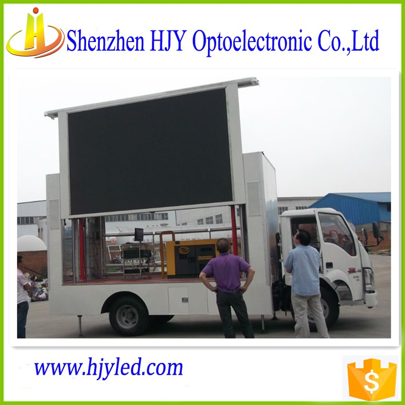 transport advertising P16 outdoor truck/trailer led display moving led board