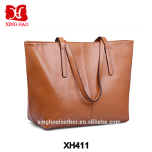 Custom Available fashion lady black leather tote bag Ladies handbag brands bags women tote bag