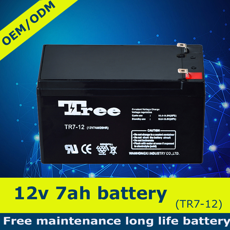 Replacement battery rechargeable 12v 7ah lead acid battery for car, solar, ups, etc