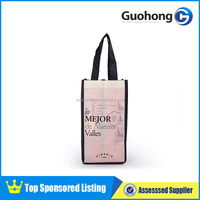 Promotion Recycle Nonwoven Wine Bag | 4 Bottle Wine Bag