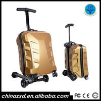 Outside EVA garment luggage bag Scooter With Inline-skate Style Wheels
