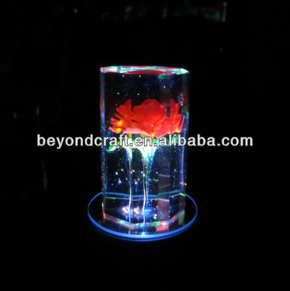 crystal glass 3d engraved blank with logo