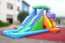 Commercial inflatable water slide with climbing
