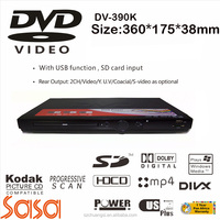 Factory cheap price DV390K Karaoke home dvd player with 5.1 audio output with USB 2CH/vedio