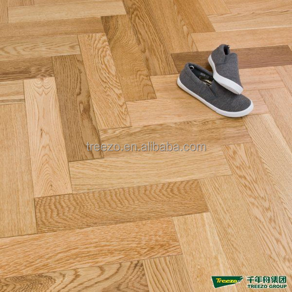 Oak Engineered classic Herringbone parquet wood flooring