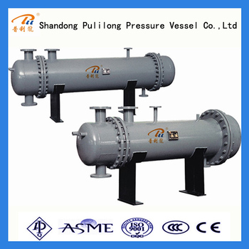 floating-head stainless steel heat exchanger with ASME U stamp