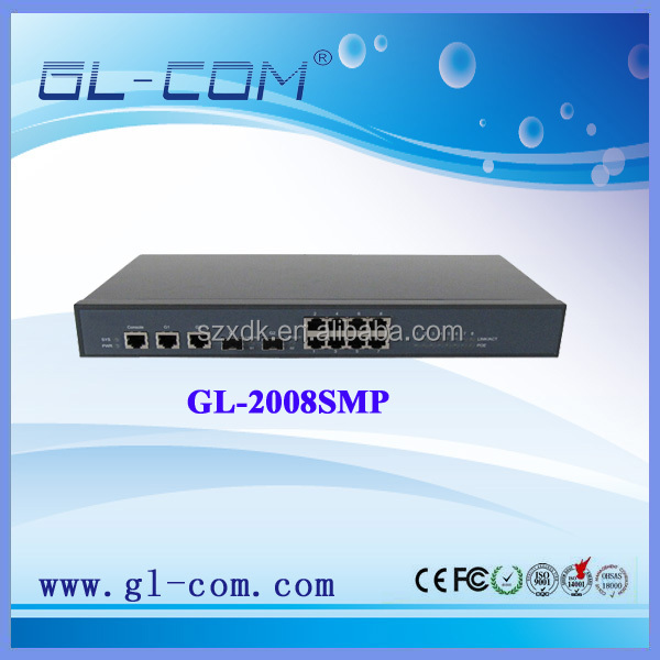 8port POE Fiber Switch L2 switches with high performance, multiservice,high reliability and high security