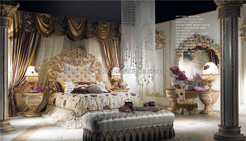 Italienne Antique sculpté meubles de chambre à coucher en
