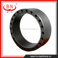Apply to KOMATSU PC200-6 Excavator Gear Ring for Swing Machinery , Excavator Gear Parts , Slewing Gear Ring