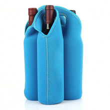 Custom neoprene wine bottle gel cooler bags