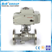 WCB 220V DN50 electric actuator motorized steam ball valve