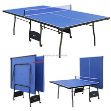 HLC Indoor Outdoor Folded Portable Table Tennis Table