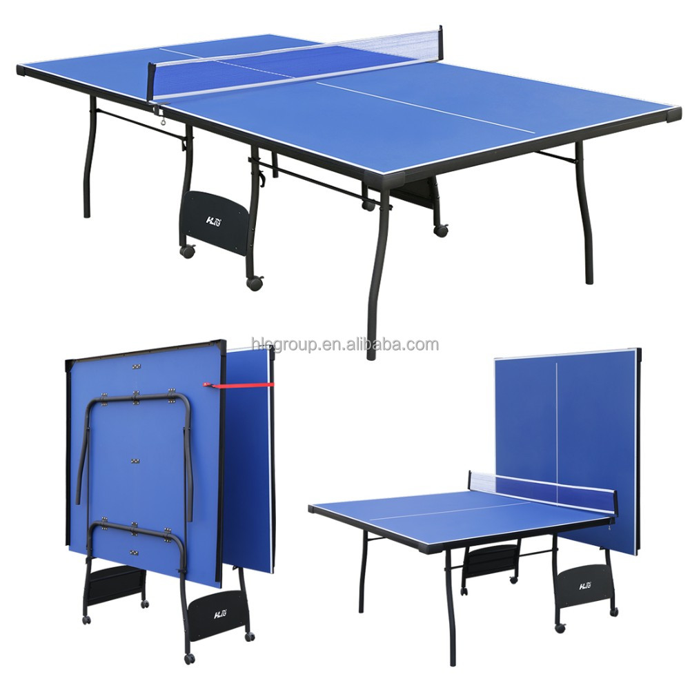 HLC Indoor Outdoor Table Tennis Table / Folded Portable Table Tennis Table