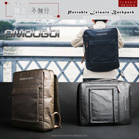 Wholesale Waterproof Laminated Canvas Portable Travelling Backpack Laptop Computer Carry Bag