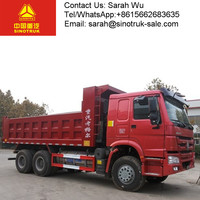 Right Hand Driving Black Color Diesel 371HP dump truck for myanmar sinotruck
