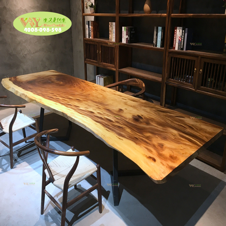 brilliant antique design walnut dinner slab <strong>table</strong>