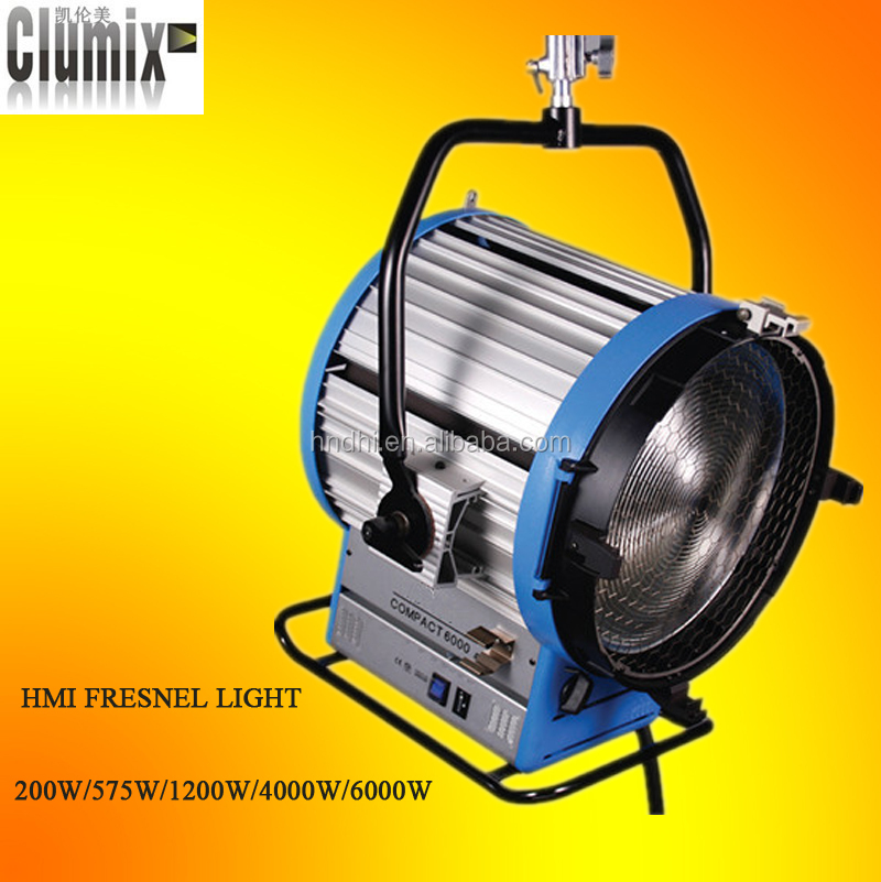 4kw hmi fresnel film shooting light+2.5k/4k EB Flicker free