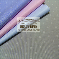 stock lot , 2016 fashion cvc yarn dyed stripe with small dobby onside woven fabric for shirt,no moq,quick delivery