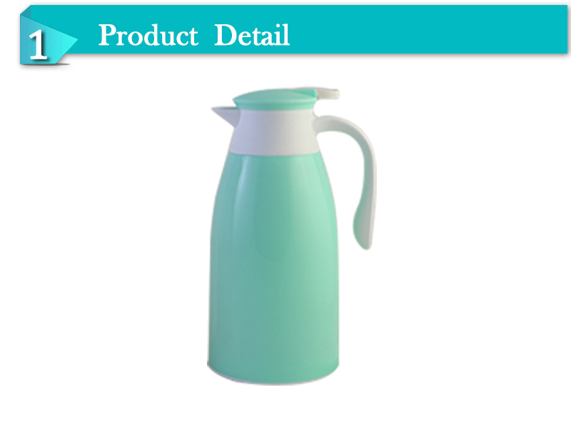 1.6L 1.9L promotional Plastic coffee thermos pot with glass liner
