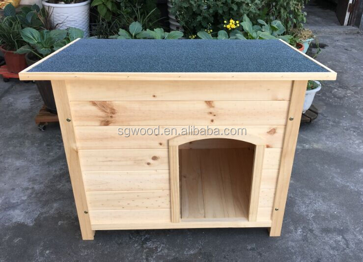 Flat and waterproof roof custom wooden dog house for sale