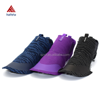 Newly Designed Slip-on Summer Breathable Women Knit Mesh Sport Shoes Uppers