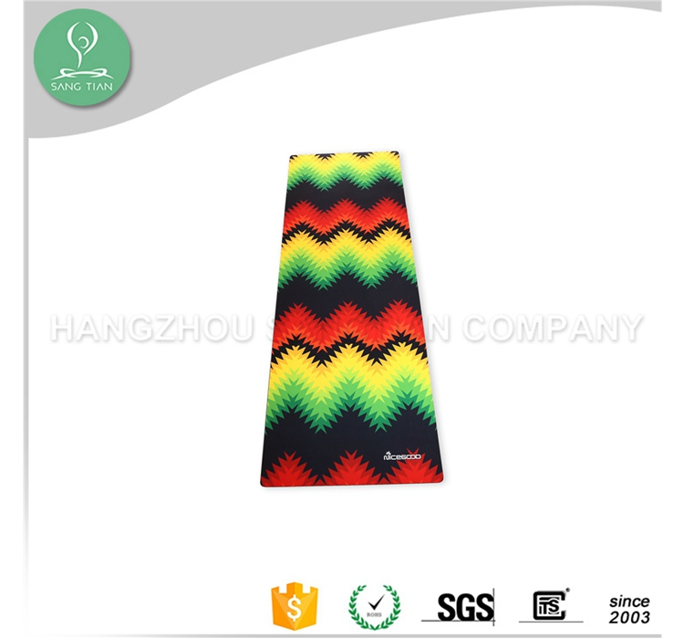 Colourful printed eco sticky yoga rubber mat manufacturing in uae