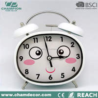 2015 electronic oval shape stylish plush alarm clock , pretty alarm clock kid