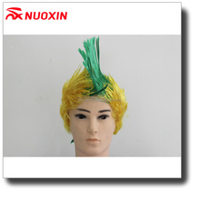 NX Cheap synthetic cosplay short curly arfo football fans wig,cosplay synthetic wigs,fan wig