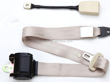Black 3 points seat belt with retractor